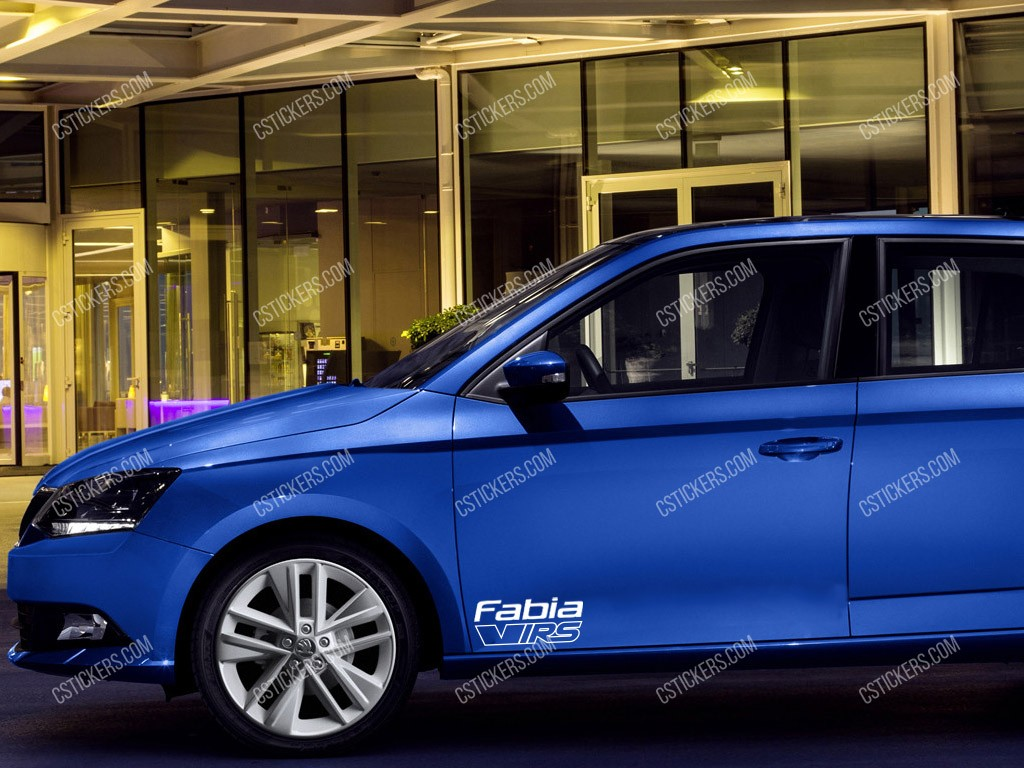 Skoda Fabia Vrs Stickers For Doors Cstickers Com